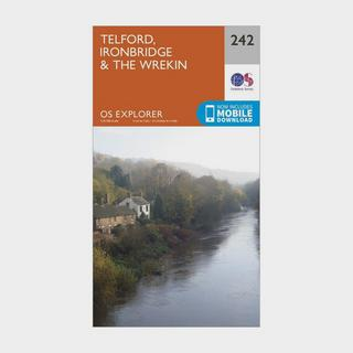 Explorer 242 Telford, Ironbridge & The Wrekin Map With Digital Version
