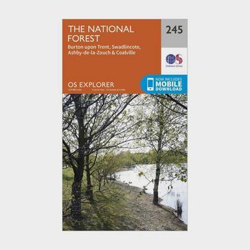 Orange Ordnance Survey Explorer 245 The National Forest Map With Digital Version