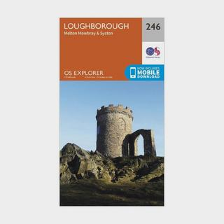 Explorer 246 Loughborough, Melton Mowbray & Syston Map With Digital Version