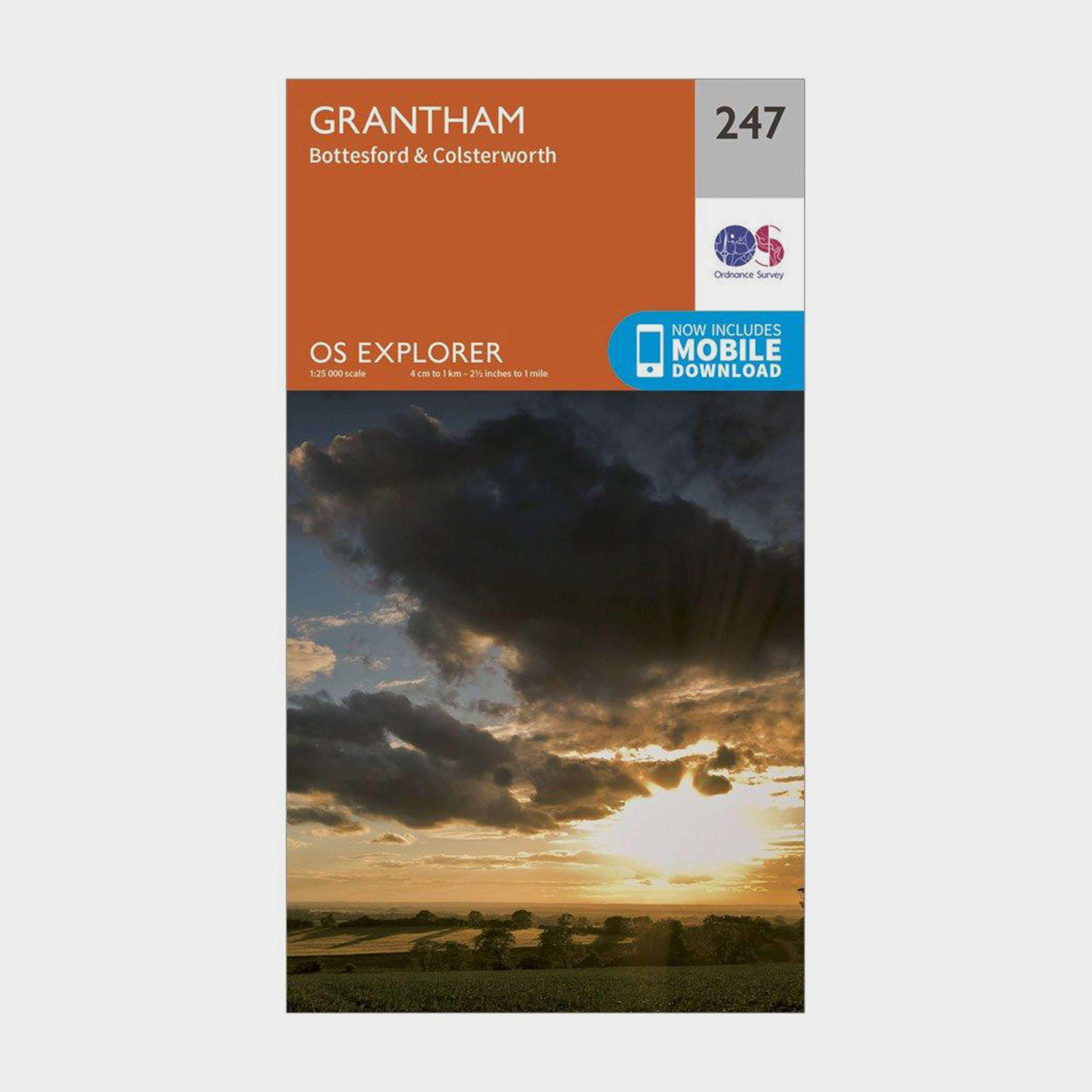 ORDNANCE SURVEY Explorer 247 Grantham Map With Digital Version
