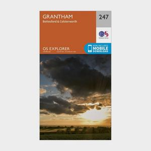 ORDNANCE SURVEY Explorer 247 Grantham Map With Digital Version