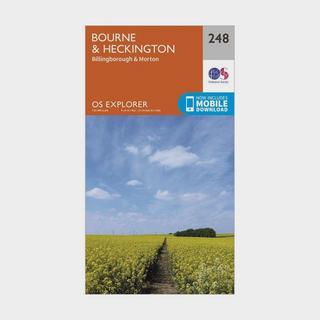 Explorer 248 Bourne & Heckington Map With Digital Version