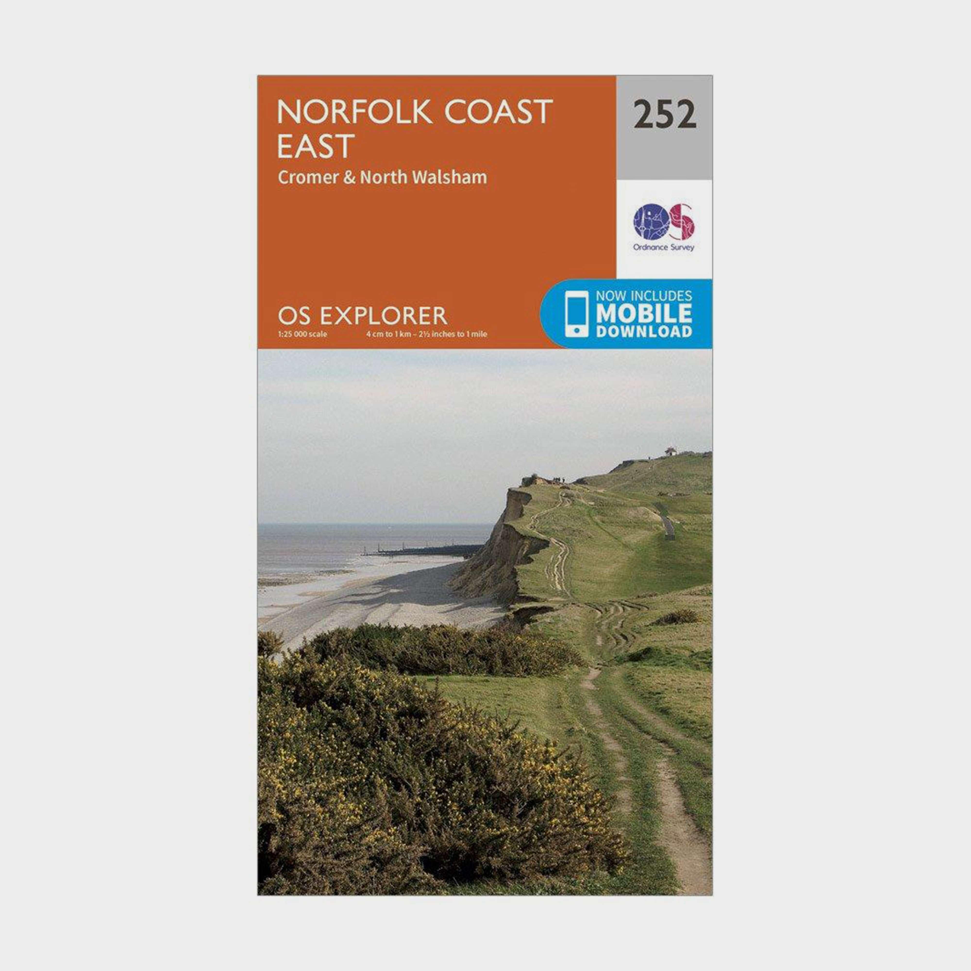 ORDNANCE SURVEY Explorer 252 Norfolk Coast East Map With Digital Version