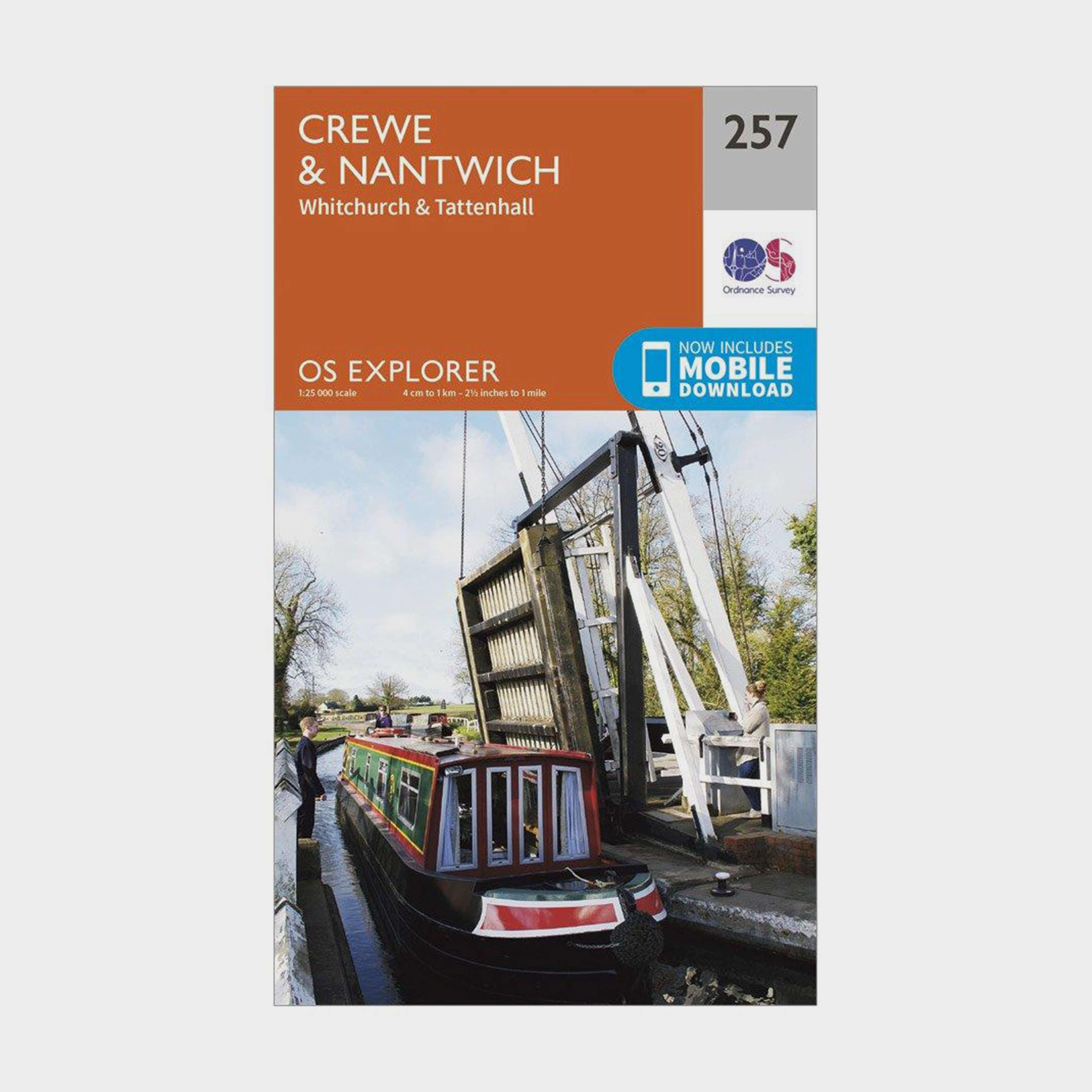 ORDNANCE SURVEY Explorer 257 Crewe & Nantwich Map With Digital Version