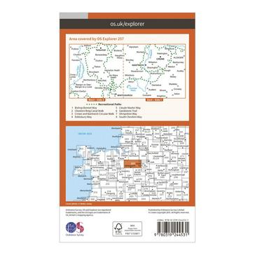Orange Ordnance Survey Explorer 257 Crewe & Nantwich Map With Digital Version