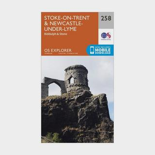Explorer 258 Stoke-on-Trent & Newcastle-under-Lyme Map With Digital Version