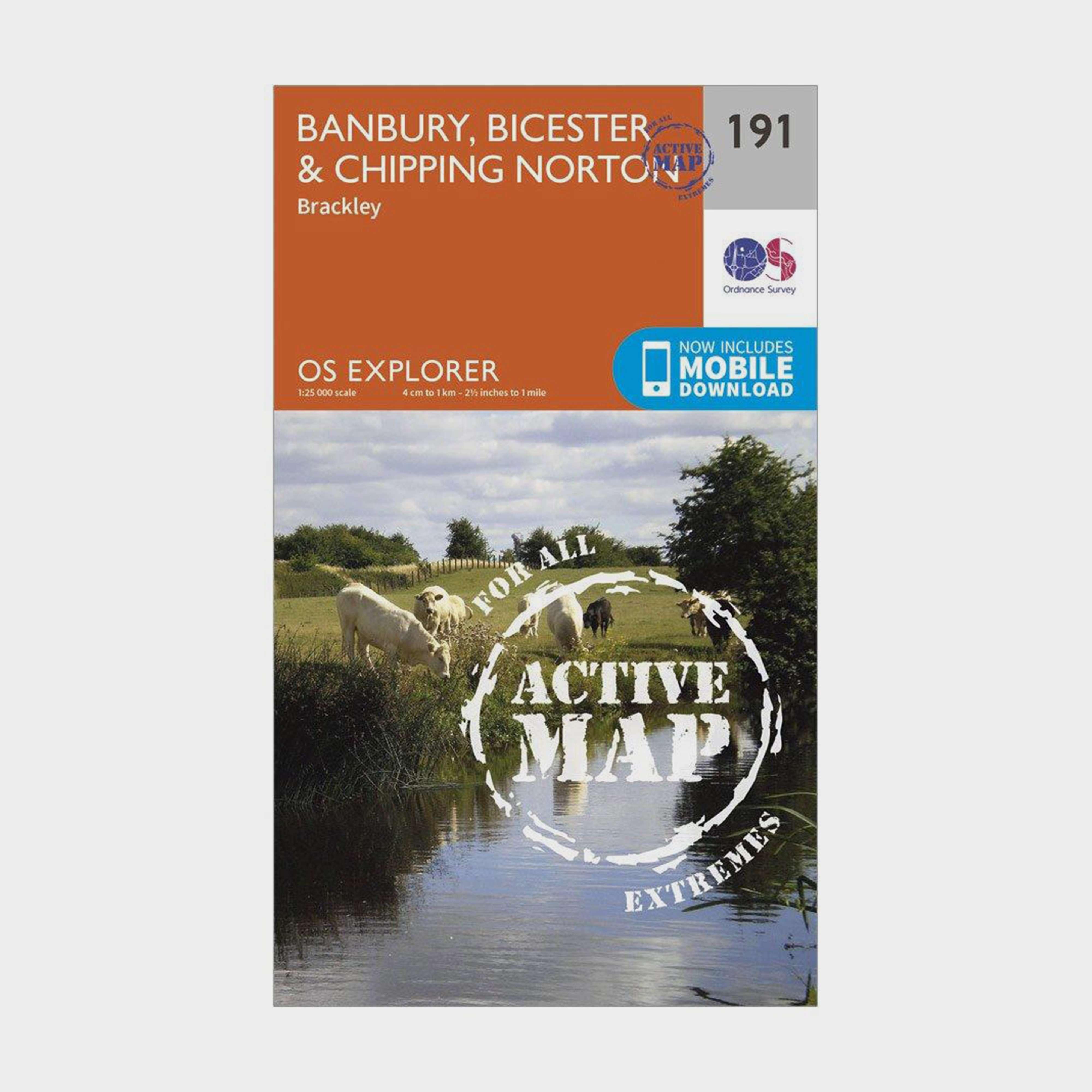 ORDNANCE SURVEY Explorer Active 191 Banbury, Bicester & Chipping Norton Map With Digital Version