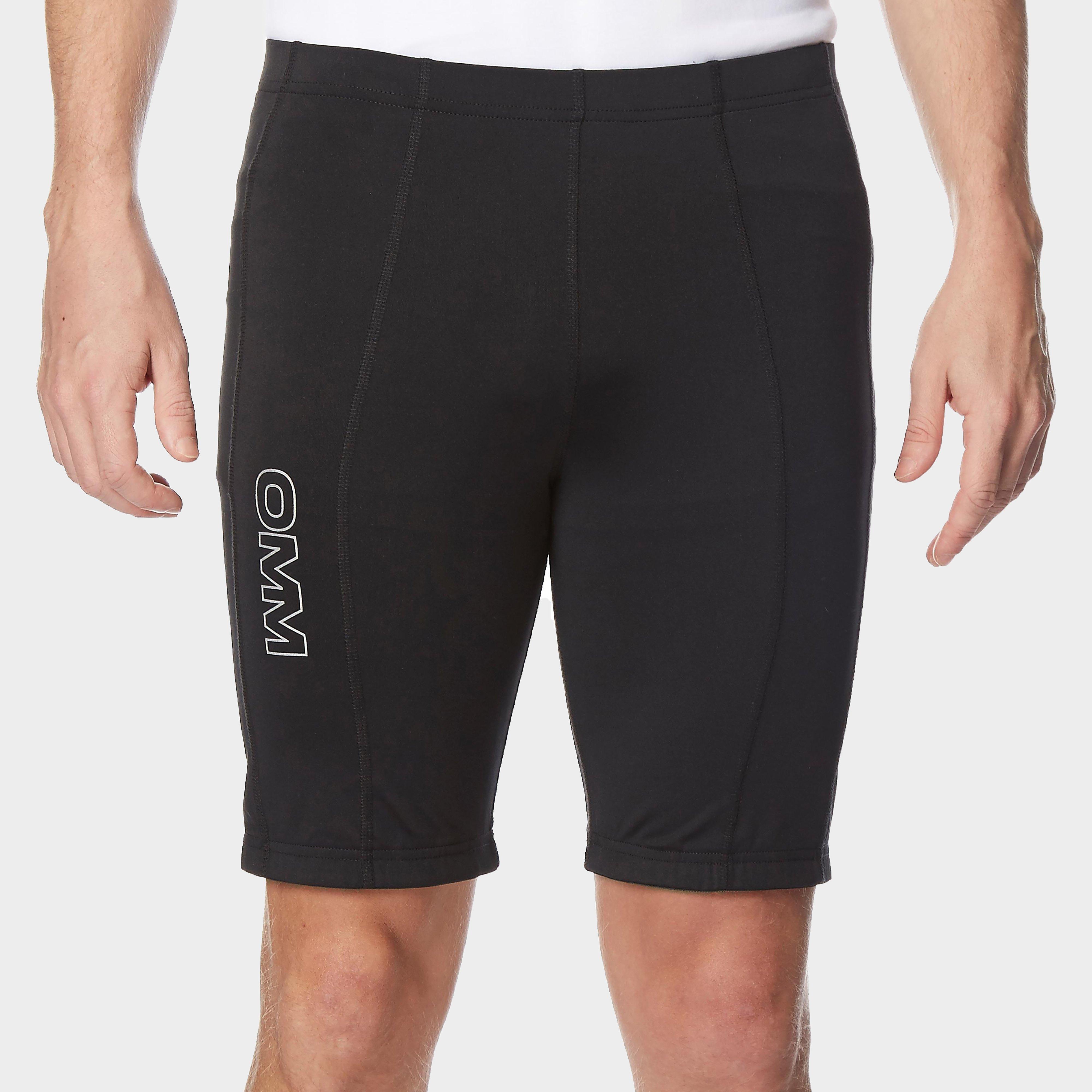 Omm Omm Mens Flash 0.5 Short Cut Running Leggings - Black, Black