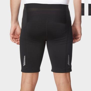 Black OMM Men's Flash 0.5 Short Cut Running Leggings