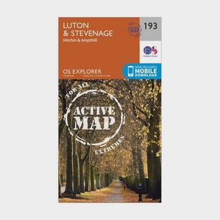 Explorer Active 193 Luton & Stevenage Map With Digital Version