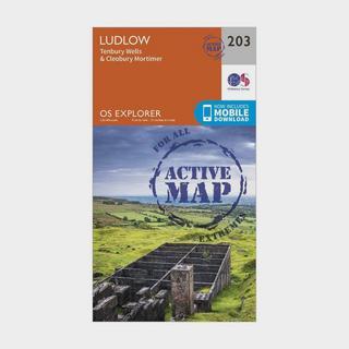 Explorer Active 203 Ludlow, Tenbury Wells & Cleobury Mortimer Map With Digital Version