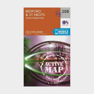 Explorer Active 208 Bedford & St Neots Map With Digital Version