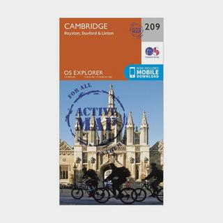 Explorer Active 209 Cambridge, Royston, Duxford & Linton Map With Digital Version