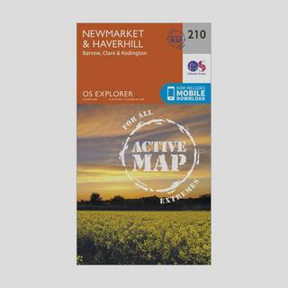 Explorer Active 210 Newmarket & Havehill Map With Digital Version