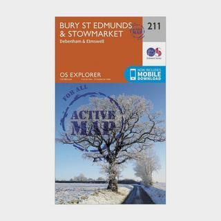 Explorer Active 211 Bury St Edmunds & Stowmarket Map With Digital Version