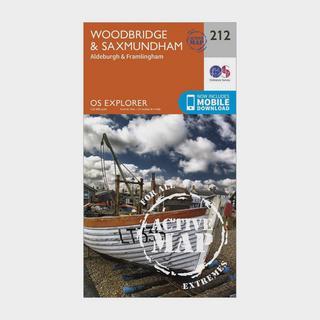 Explorer Active 212 Woodbridge & Saxmundham Map With Digital Version