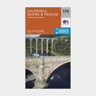 Explorer 338 Galashiels, Selkirk & Melrose Map With Digital Version