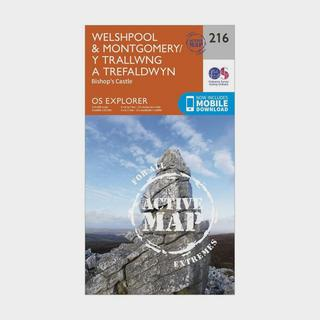 Explorer Active 216 Welshpool & Montgomery Map With Digital Version