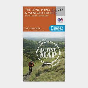 ORDNANCE SURVEY Explorer Active 217 The Long Mynd & Wenlock Edge Map With Digital Version