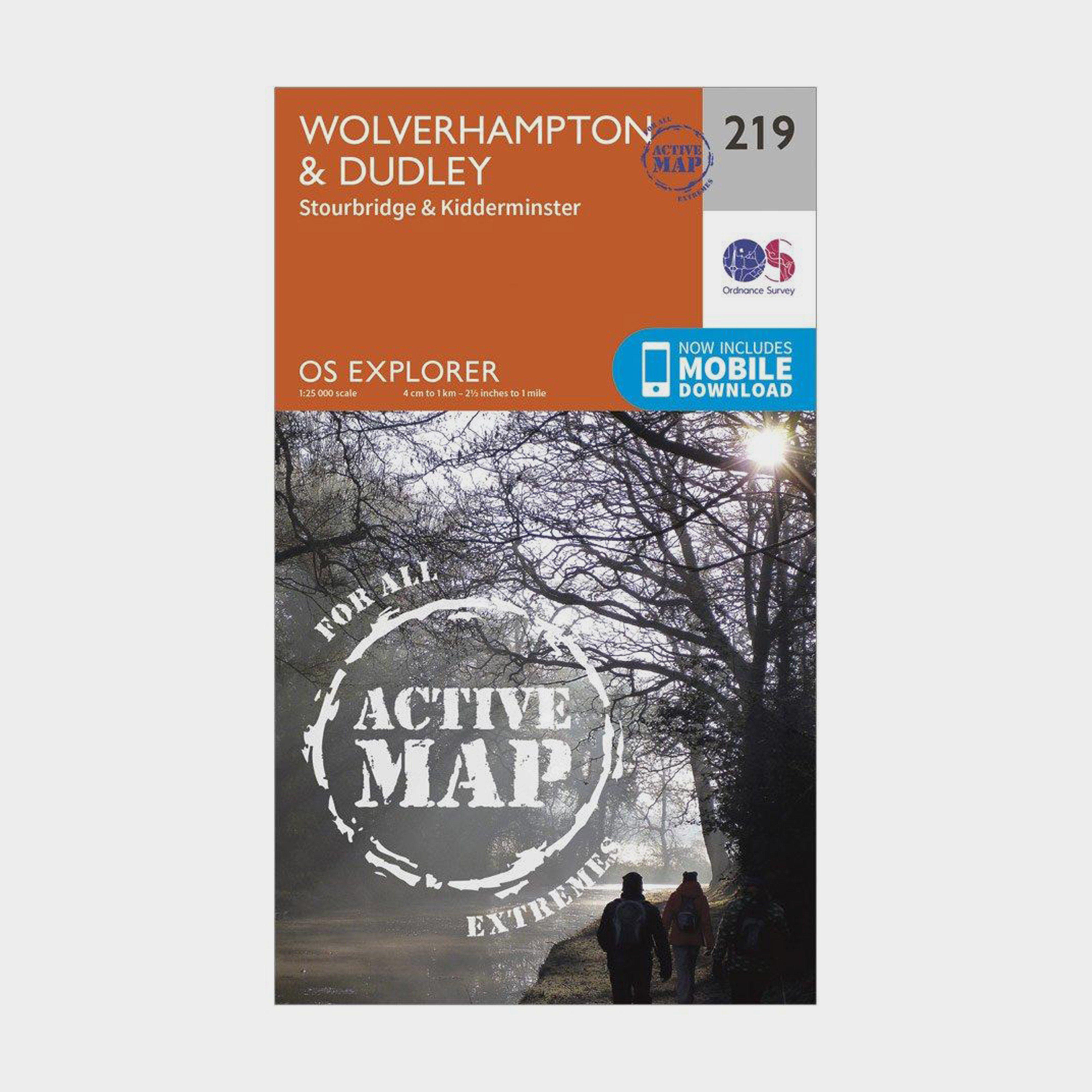 ORDNANCE SURVEY Explorer Active 219 Wolverhampton & Dudley Map With Digital Version