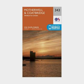 Explorer 343 Motherwell & Coatbridge Map With Digital Version