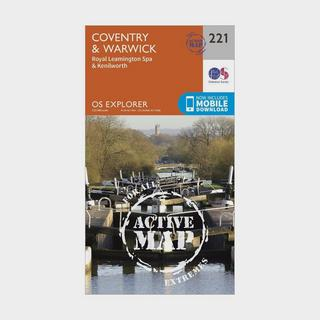 Explorer Active 221 Coventry & Warwick Map With Digital Version