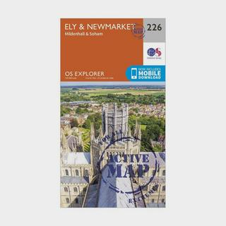 Explorer Active 226 Ely & Newmarket Map With Digital Version