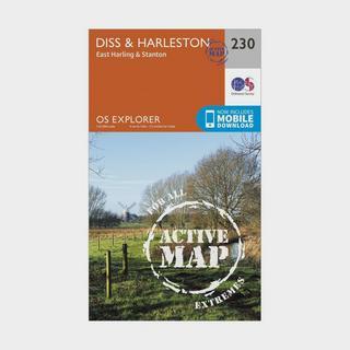 Explorer Active 230 Diss & Harleston Map With Digital Version