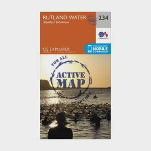 ORDNANCE SURVEY Explorer Active 234 Rutland Water Map With Digital Version
