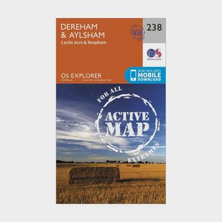 Explorer Active 238 East Dereham & Aylsham Map With Digital Version