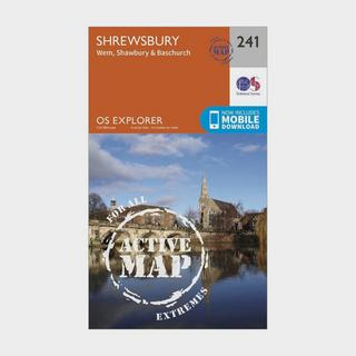 Explorer Active 241 Shrewsbury, Wem, Shawbury & Baschurch Map With Digital Version