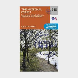 Explorer Active 245 The National Forest Map With Digital Version