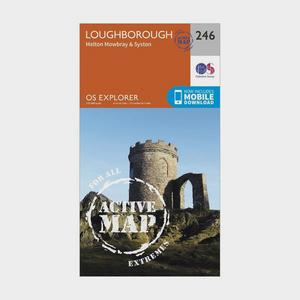 ORDNANCE SURVEY Explorer Active 246 Loughborough, Melton Mowbray & Syston Map With Digital Version