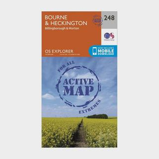 Explorer Active 248 Bourne & Heckington Map With Digital Version