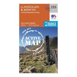 Explorer Active 255 Llangollen & Berwyn Map With Digital Version