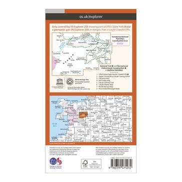 Orange Ordnance Survey Explorer Active 255 Llangollen & Berwyn Map With Digital Version