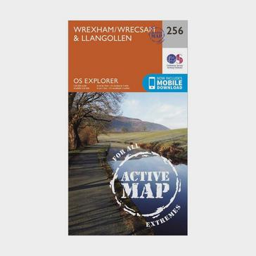 Orange Ordnance Survey Explorer Active 256 Wrexham & Llangollen Map With Digital Version