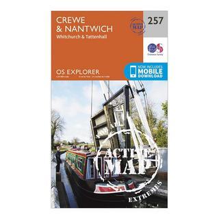 Explorer Active 257 Crewe & Nantwich Map With Digital Version