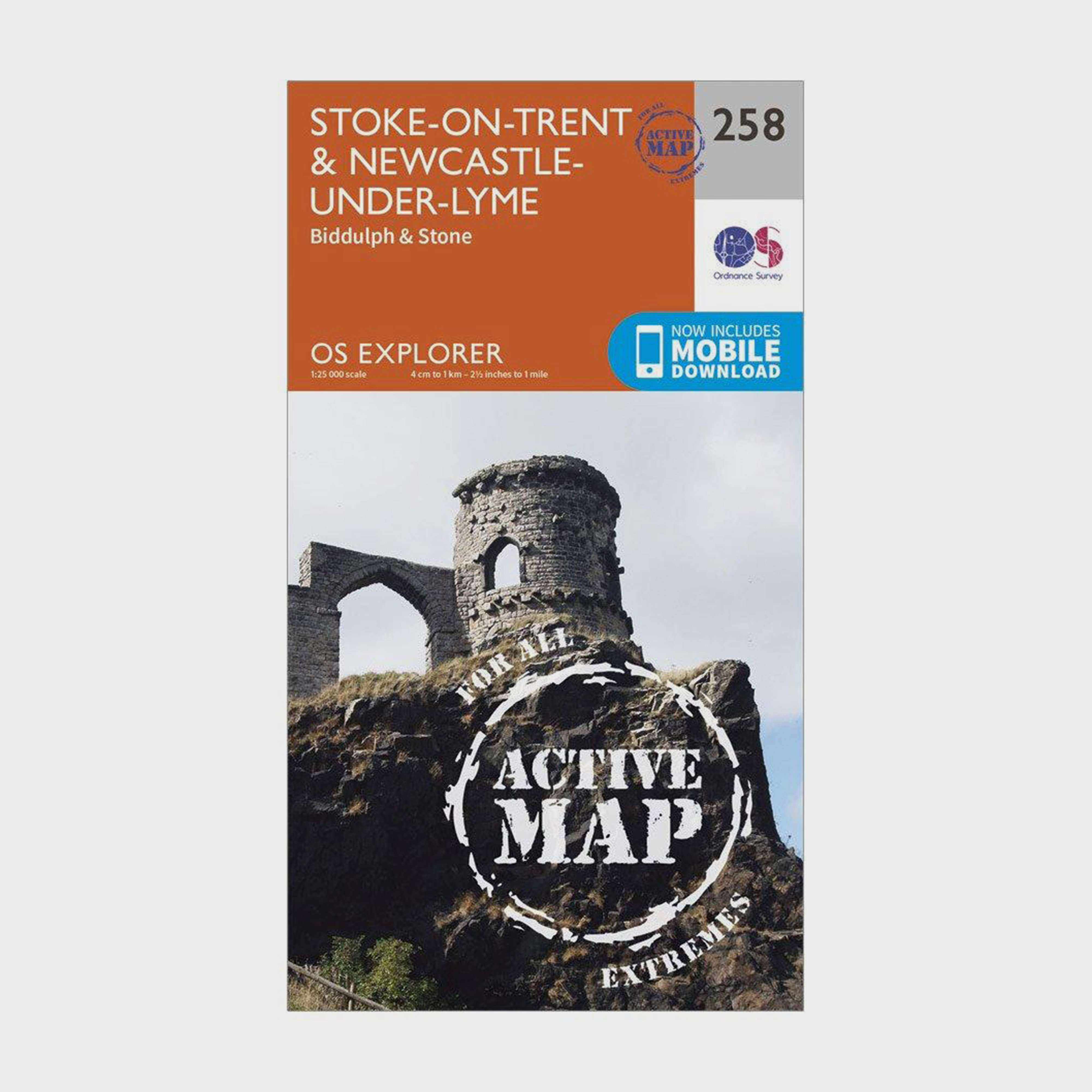 ORDNANCE SURVEY Explorer Active 258 Stoke-on-Trent & Newcastle-under-Lyme Map With Digital Version