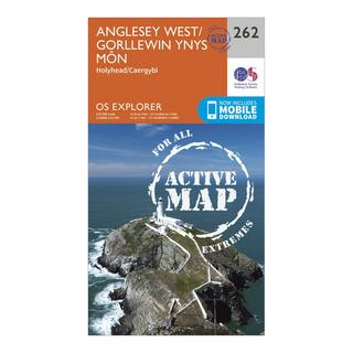 Explorer Active 262 Anglesey West Map With Digital Version