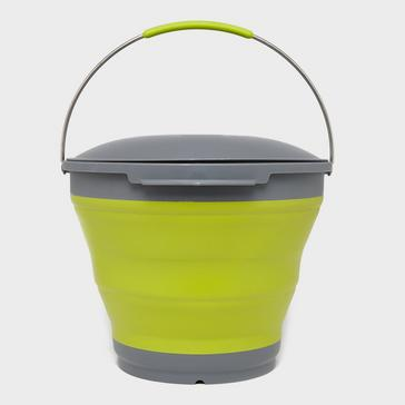 Green Outwell Collapsible Bucket and Lid
