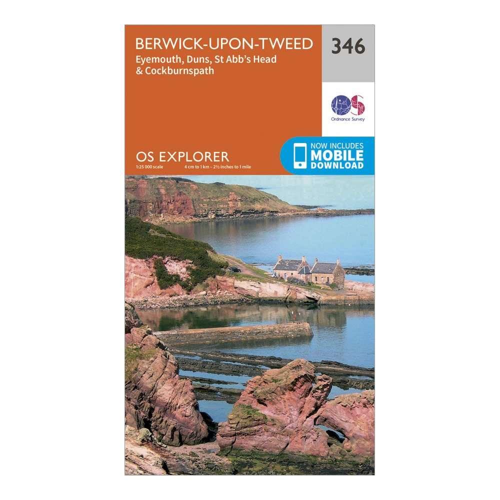 ORDNANCE SURVEY Explorer 346 Berwick-upon-Tweed Map With Digital Version