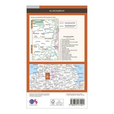 Orange Ordnance Survey Explorer Active 268 Wilmslow, Macclesfield & Congleton Map With Digital Version