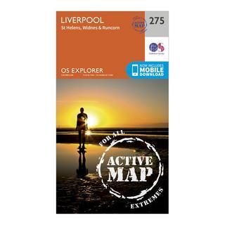 Explorer Active 275 Liverpool, St Helens, Widnes & Runcorn Map With Digital Version