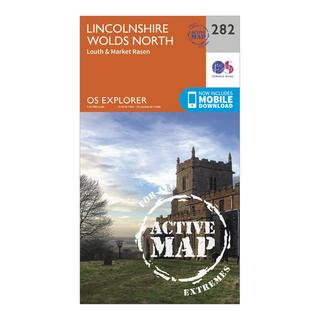 Explorer Active 282 Lincolnshire Wolds North Map With Digital Version