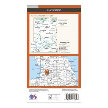 Orange Ordnance Survey Explorer Active 287 West Pennine Moors, Blackburn, Darwen & Accrington Map With Digital Version
