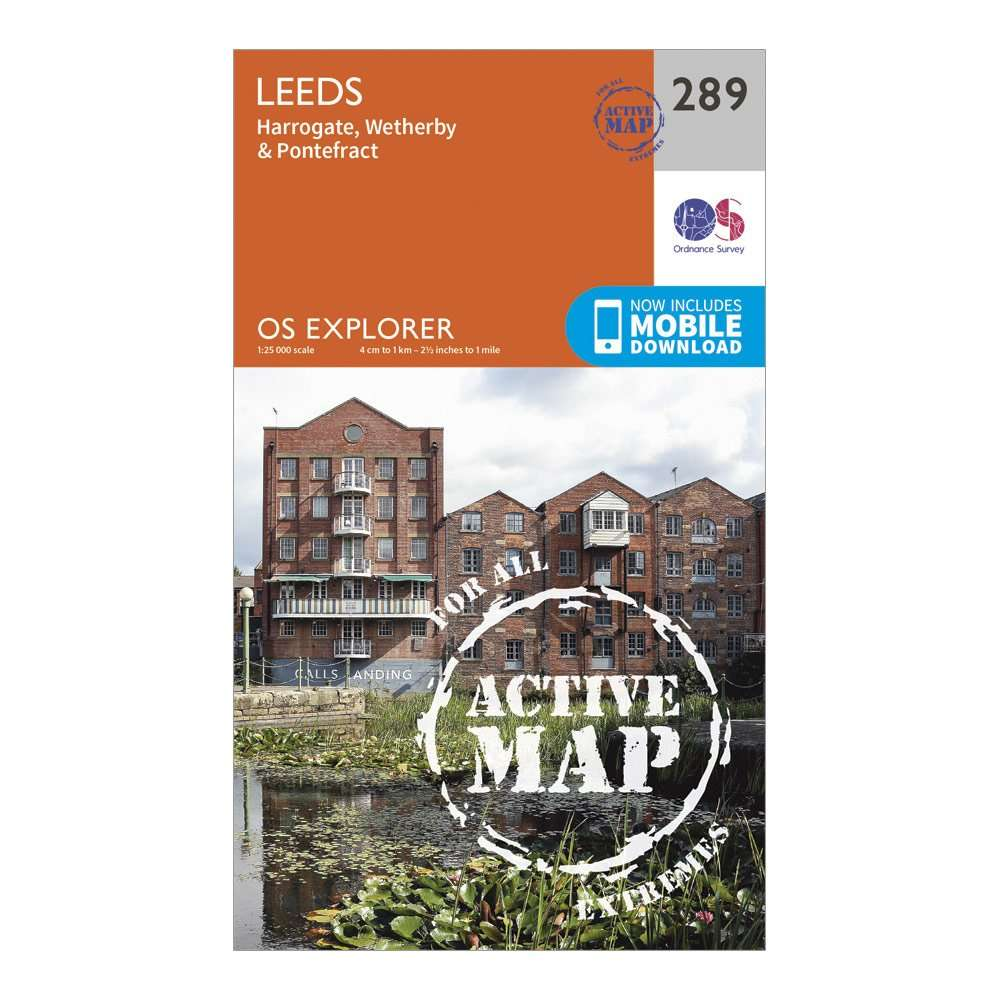 ORDNANCE SURVEY Explorer Active 289 Leeds Map With Digital Version