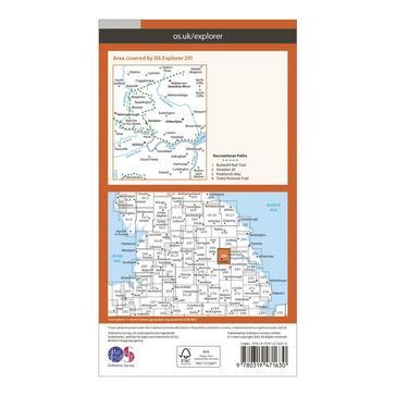 Orange Ordnance Survey Explorer Active 291 Goole & Gilberdyke Map With Digital Version