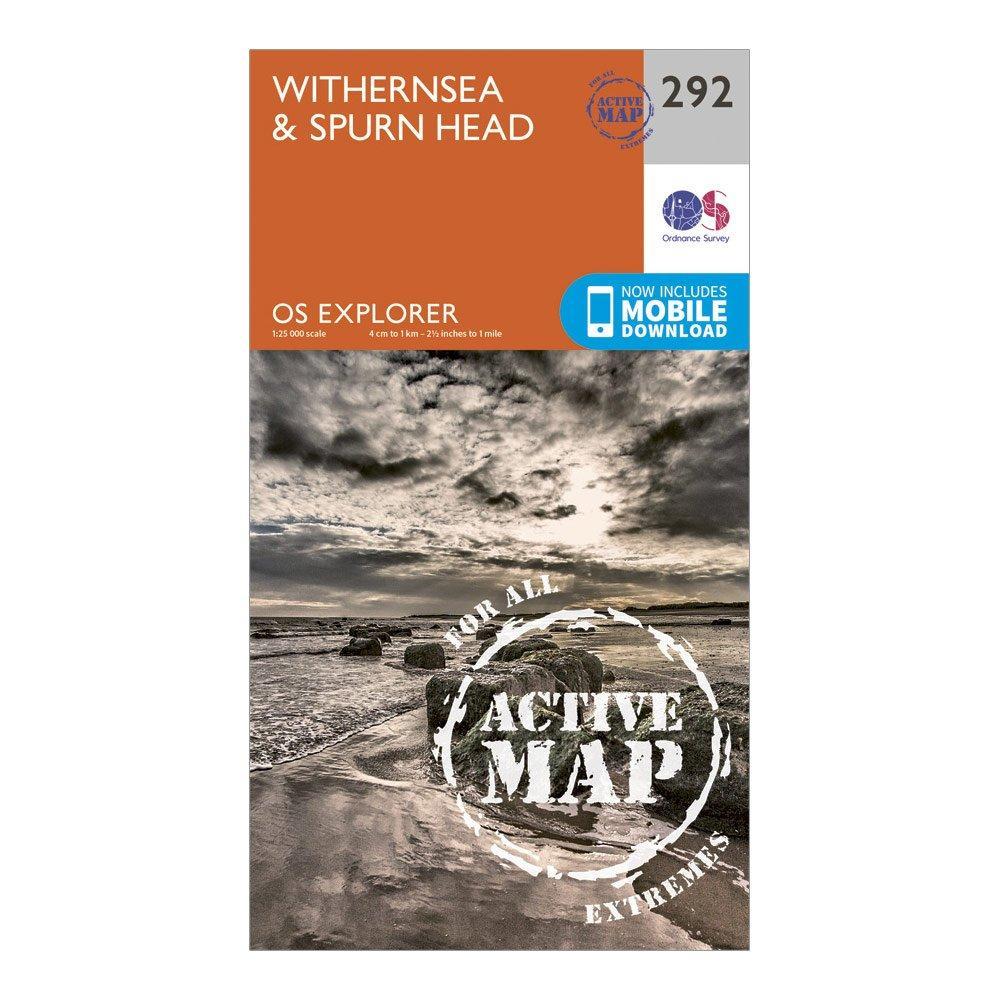 Ordnance Survey Ordnance Survey Explorer Active 292 Withernsea & Spurn Head Map With Digital Version - Orange, Orange