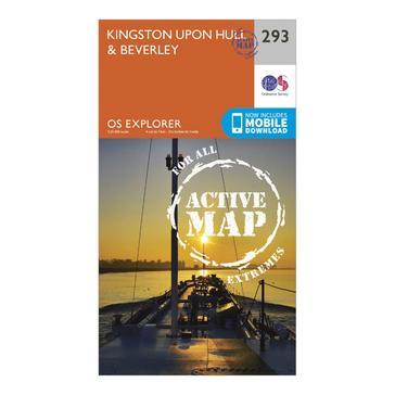Orange Ordnance Survey Explorer Active 293 Kingston upon Hill & Beverley Map With Digital Version